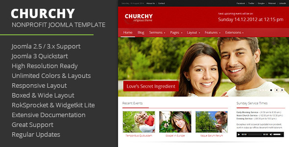 Download Churchy - Nonprofit Joomla Template Church Joomla Templates