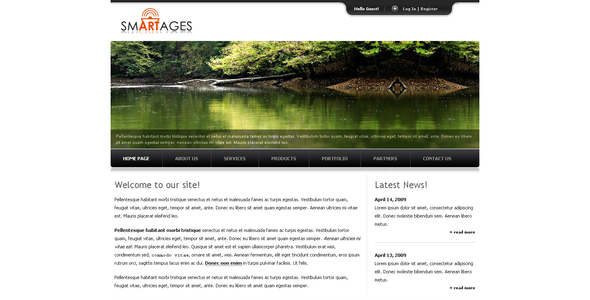 Download Smartages White Html Templates
