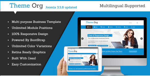 Download Theme-Org - Responsive Multi-Purpose Joomla Theme Hospital Joomla Templates