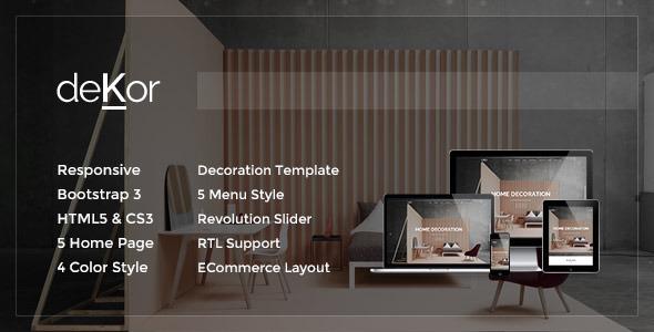 Download deKor - Responsive Interior HTML Template Interior Html Templates