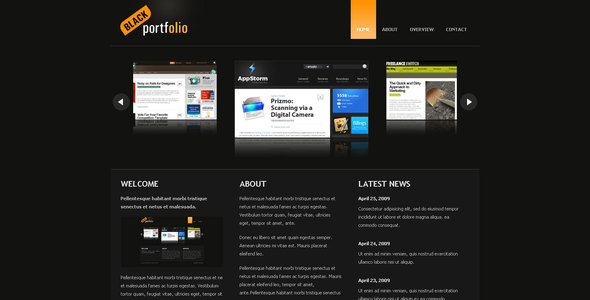 Download BLACK PORTFOLIO Black Html Templates