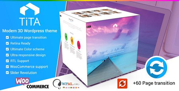 Download Tita 3D - Modern WordPress Theme Modern WordPress Themes
