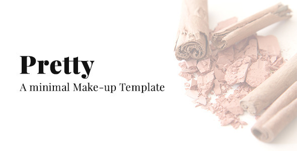 Download Pretty - A Minimal Make-up Website Template Pink Blogger Templates