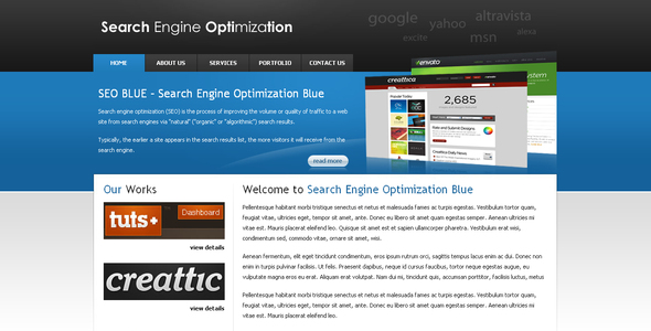 Download SEOBLUE Elegant Blogger Templates