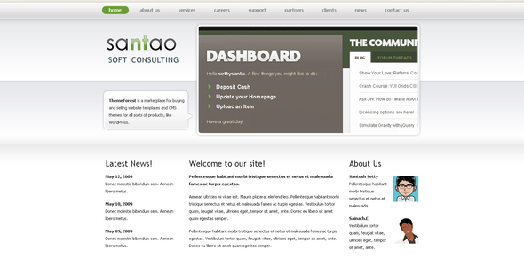 Download Santao Web Consulting  White Html Templates
