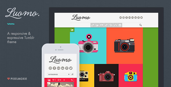 Download Luomo - A Responsive & Expressive Tumblr Theme Simple Tumblr Themes