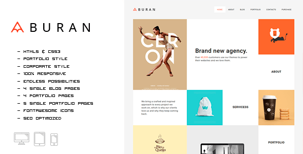 Download Buran - Smart Portfolio and Business HTML Template Fast Html Templates