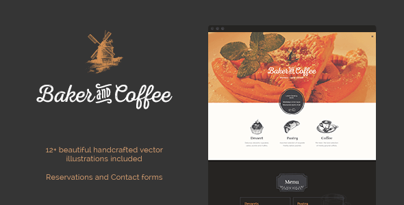 Download Baker & Coffee HTML Template Retro Html Templates