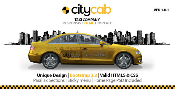 Download CityCab - Taxi Company Responsive HTML Template Company Html Templates