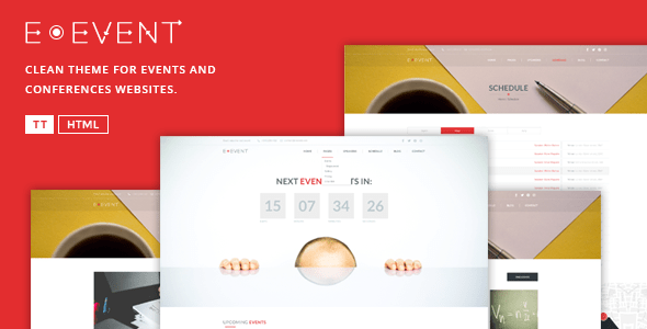 Download E-Event - Elegant HTML Template For Events  Elegant Html Templates