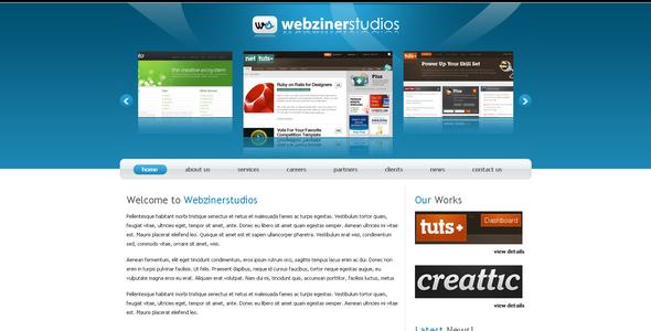 Download Webzinerstudios White Blogger Templates