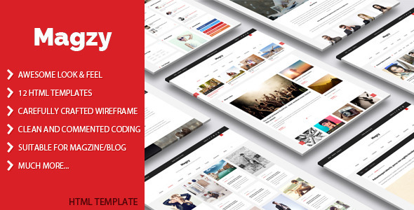 Download Magzy - Clean Magazine HTML Template Cute Html Templates