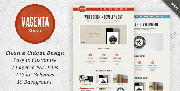 Download Vagenta - Clean & Unique PSD Template Wallpaper Html Templates
