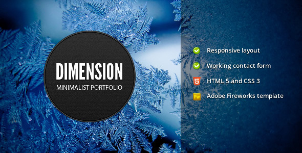Download Dimension - Minimalist Portfolio Template Wallpaper Html Templates