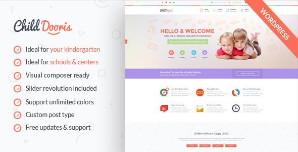 Download Child Dooris - Kindergarten & School WordPress Theme School WordPress Themes