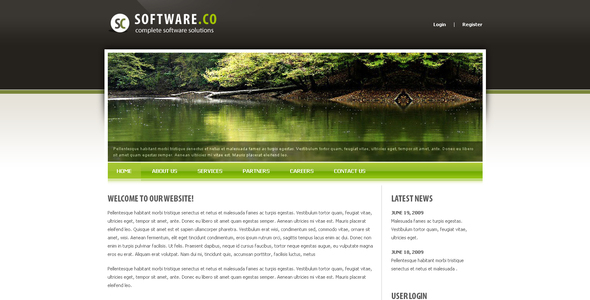 Download Software Co Drupal Template Clean Blogger Templates