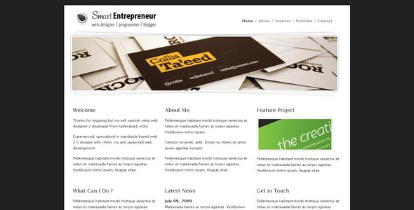 Download Smart Entrepreneur White Blogger Templates