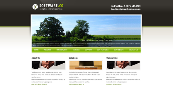 Download Software Co Html Template Elegant Blogger Templates