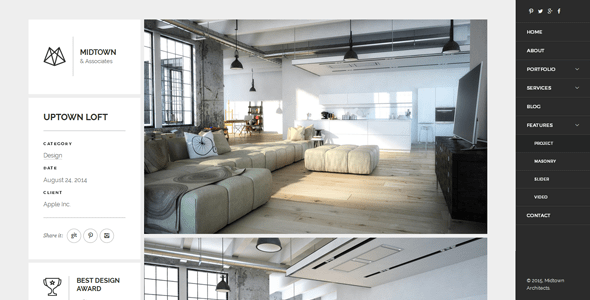 Download Midtown Architects – Responsive HTML5 Template Black Joomla Templates