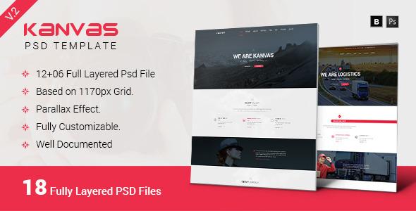 Download Kanvas Multipurpose Responsive PSD Template Black Joomla Templates