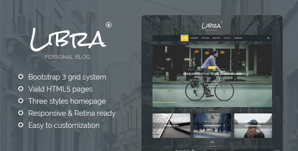 Download Libra - Personal Blog HTML Template Blog Html Templates