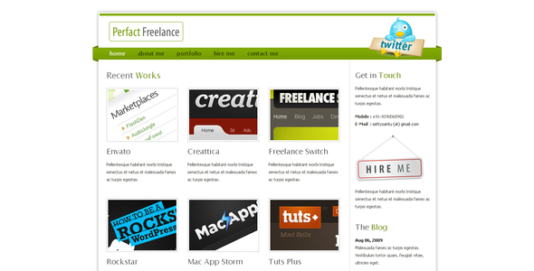 Download Perfact Freelacer Clean Elegant Html Template Elegant Blogger Templates