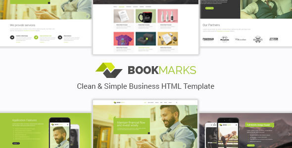 Download BookMarks - Clean & Simple Business HTML Template Simple Html Templates