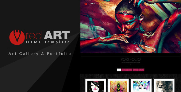 Download Red Art - HTML Portfolio / Art Gallery Website Template Red Html Templates