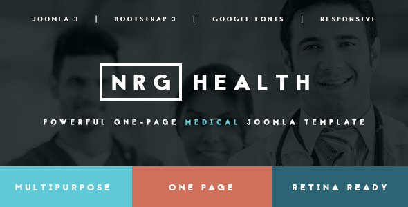 Download NRGhealth - Trendy Medical & Healthcare Template Hospital Joomla Templates