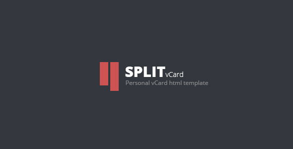 Download Split : Personal CV/Vcard Template Red Html Templates