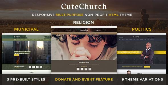 Download CuteChurch — Religion Responsive HTML Theme Cute Html Templates