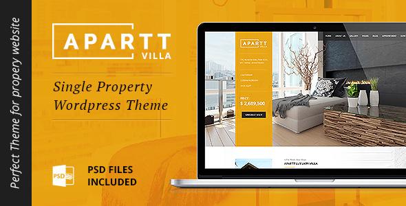 Download APARTT VILLA - Single Property Real Estate WordPress Theme Property WordPress Themes
