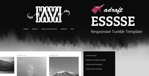Download ESSSSE - Responsive Tumblr Theme Simple Tumblr Themes