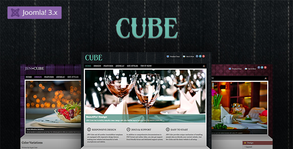 Download JSN Cube - Joomla Fashion Responsive Template Red Joomla Templates
