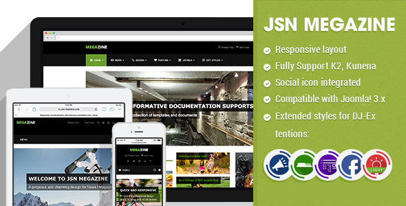 Download JSN Megazine - Responsive Joomla Magazine Template Portal Joomla Templates