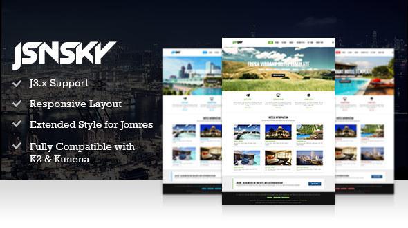 Download JSN Sky - Responsive Hotel Theme & Jomres support Property Joomla Templates