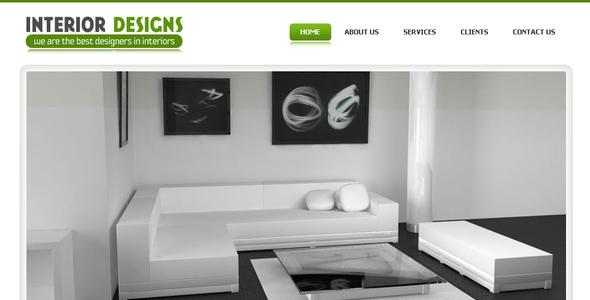 Download Interior Designs - Simple Pro Elegant Template White Blogger Templates