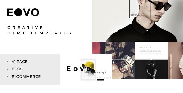 Download EOVO - Creative HTML5 Responsive Template Black Joomla Templates