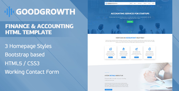Download GoodGrowth - Finance & Accounting HTML Template Amp Html Templates