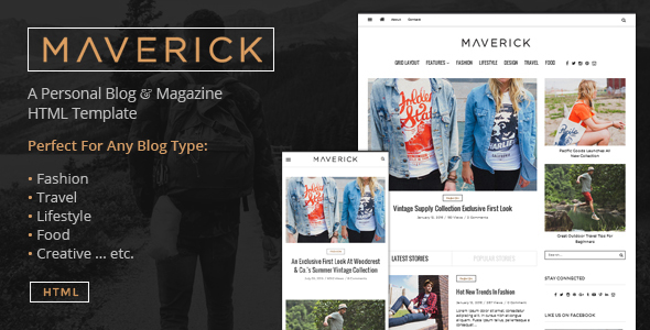 Download Maverick - Multipurpose HTML Blog Magazine Fashion Blogger Templates