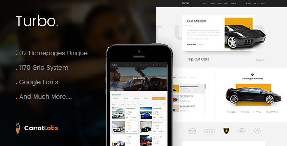 Download Turbo - Car Rental PSD Template Directory Joomla Templates