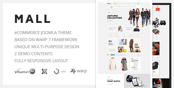Download Mall — Multi-Purpose eCommerce Responsive Joomla Template Ecommerce Joomla Templates