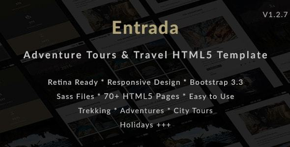 Download Tour & Travel HTML Template for Tour Agency - Entrada Travel Html Templates