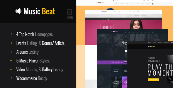 Download MusicBeat Musicians & DJ's Music Band Html Template Band Html Templates