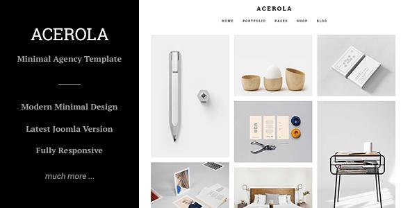 Download Acerola - Ultra Minimalist Agency, Portfolio & Photography Joomla Template Fast Load Joomla Templates