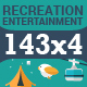 Download 143x4 Icons for Recreation and Entertainment from GraphicRiver