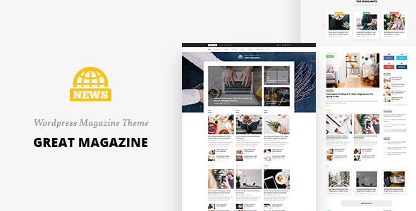 Download Great Magazine - Magazine Psd Template Portal Blogger Templates
