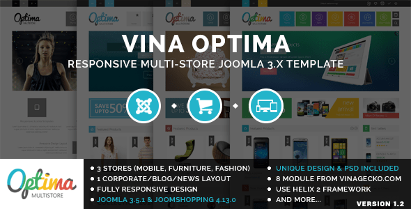 Download Vina Optima :: Multi-Store Joomla 3.x Template Store Joomla Templates