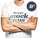 Download Men T-Shirt v-neck, o-neck Mockup from GraphicRiver