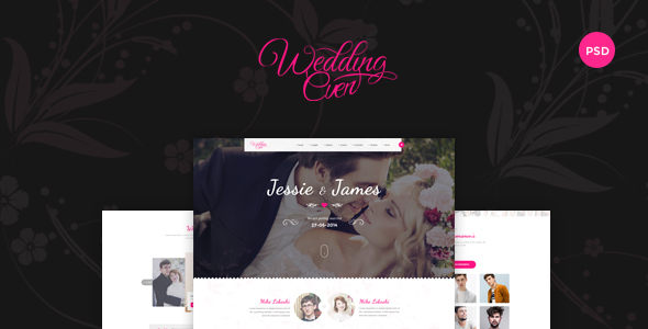 Download Themenum – Creative PSD Template for Wedding, Events, Wedding Planner and Couple Pink Joomla Templates